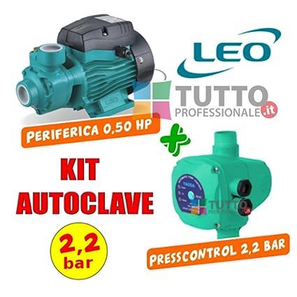 Pompa Autoclave 0 5 Hp Con Press Control 2 2 Bar Leo Yaoda Amazon