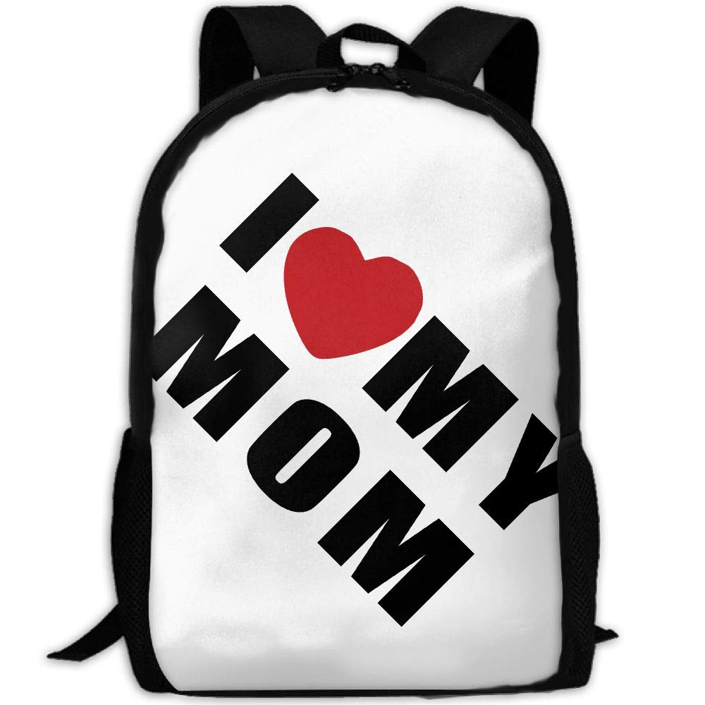 ZQBAAD I Love My Mom Luxury Print Men and Women's Travel Knapsack