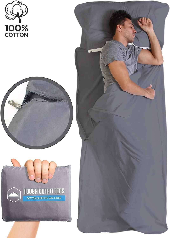 Cotton Travel Camping Sheet Lightweight for Hotel... Unigear Sleeping Bag Liner
