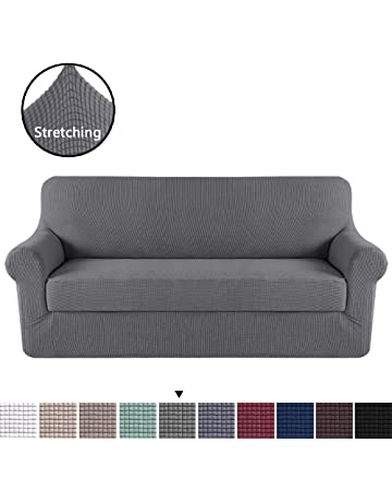 Merveilleux H.VERSAILTEX Modern Spandex 2 Pieces Sofa Cover Lycra Jacquard High Stretch  Sofa Slipcover Stylish