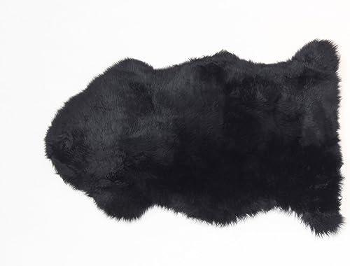 AUSKIN PREMIUM Sheepskin Rug Single Pelt Black