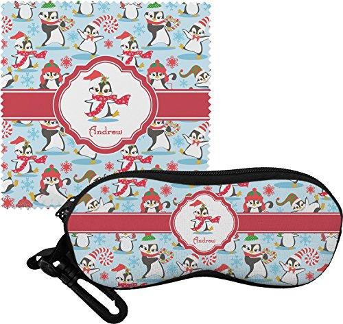 Christmas Penguins Eyeglass Case & Cloth (Personalized)