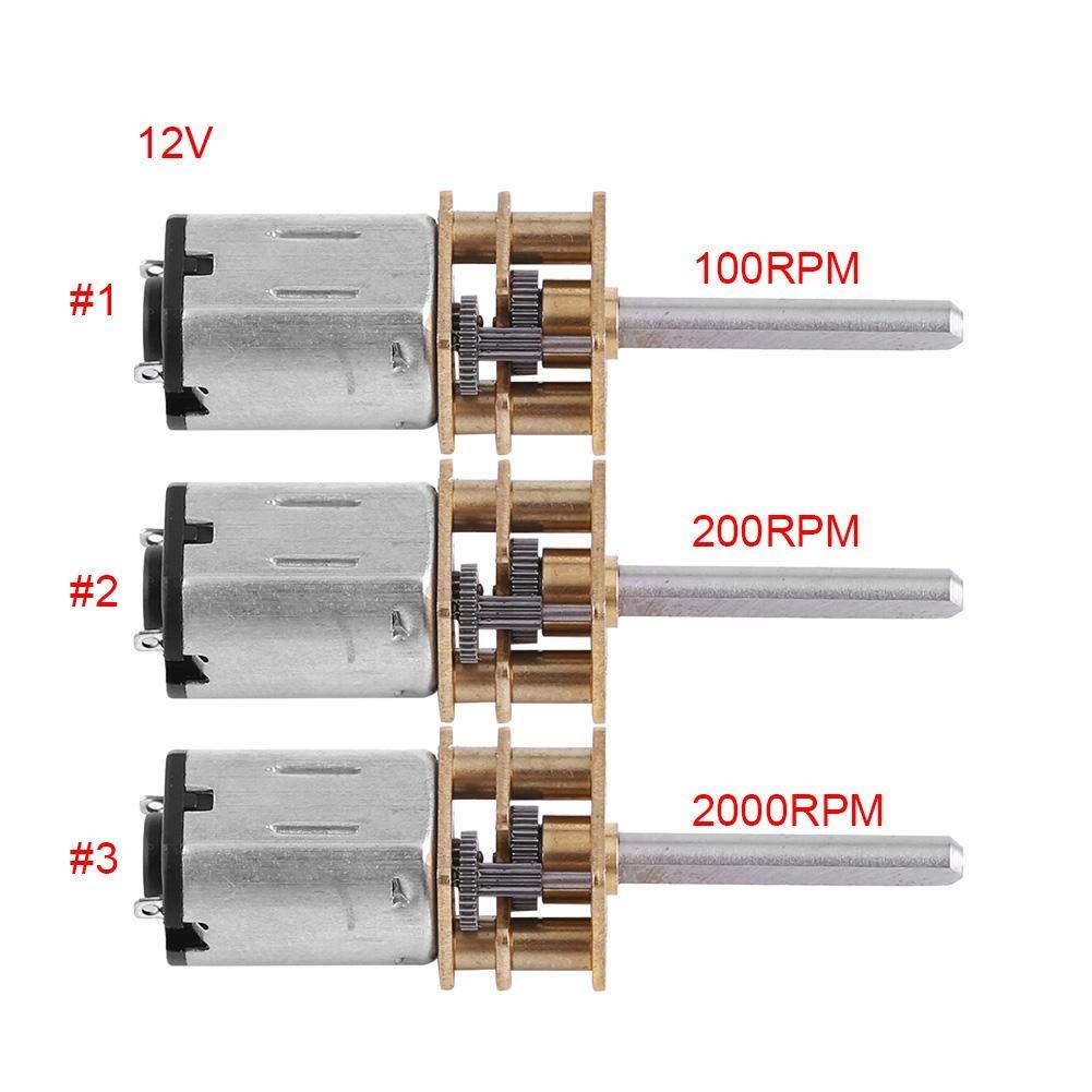DIY accesorios de juguete Akozon N20 Motor de Engranajes 20mm Largo eje Micro engranaje para Robot 12V 2000RPM