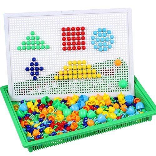 Creative Mosaic Pegboard Mushroom Jigsaw product image
