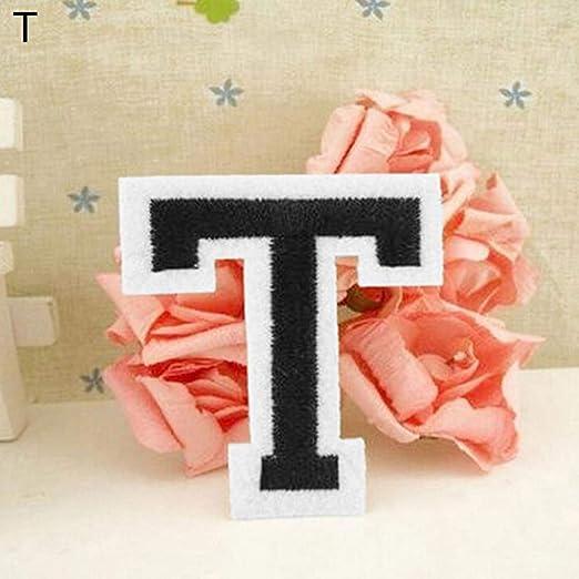 Parche bordado con la letra del alfabeto inglés, para coser o ...