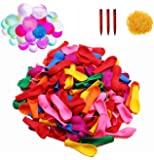 500 Pack Water Balloons with Refill Kits, Latex Water Bomb Balloons Fight Games - Summer Splash Fun for Kids & Adults