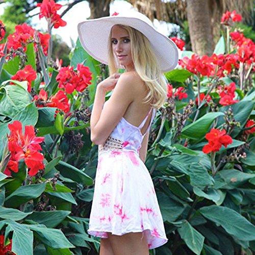 Culater® Doux Femmes V-Neck Halter Sexy ajouré Crochet Floral Couture Jumpsuit
