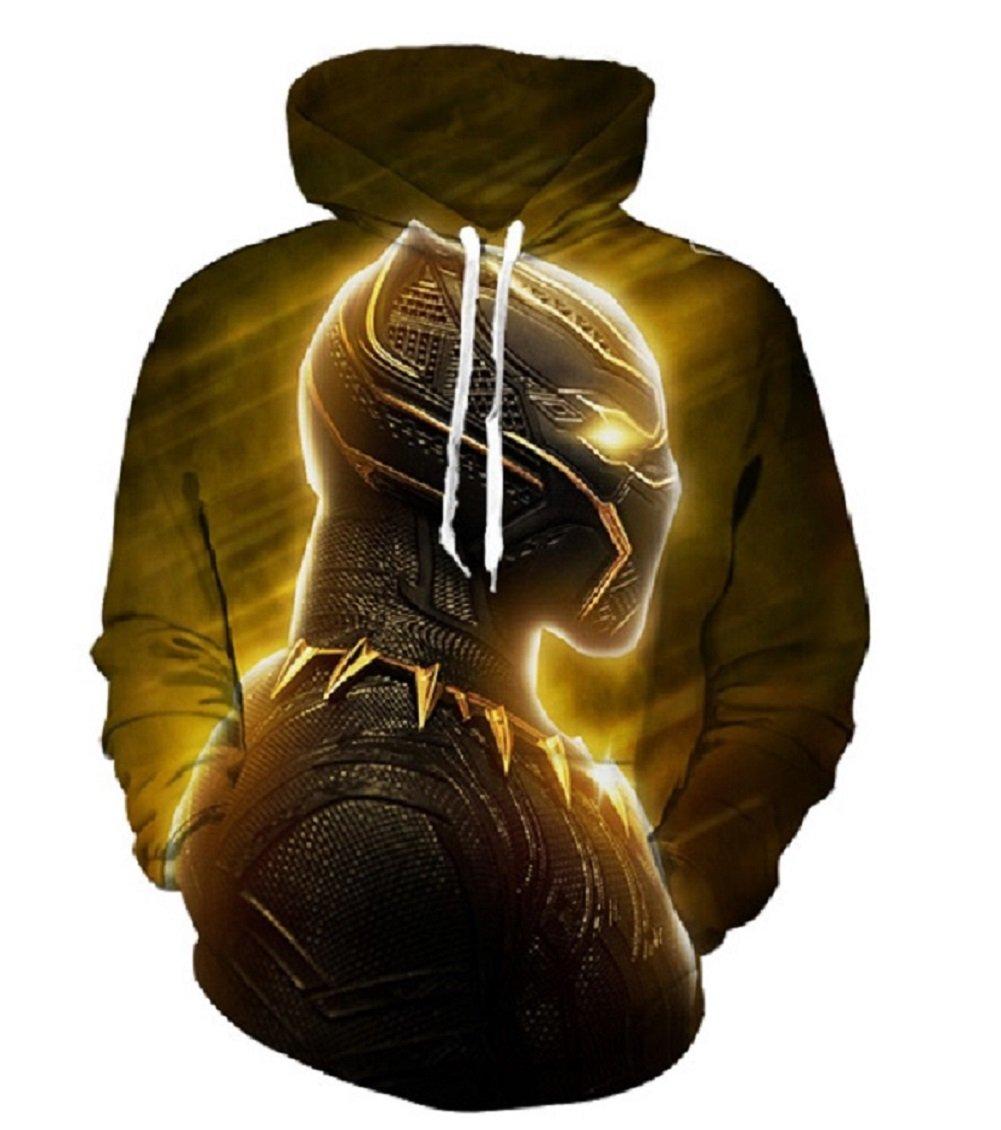 Cosfunmax Black Panther 3D Hoodie Sweatshirt Long Sleeve Autumn Winter Hoody Tops Sportswear Tracksuit