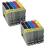 Multipack 10 Tintenpatronen, alternativ zu T044140 schwarz, T044240 cyan, T044340 magenta, T044440 yellow