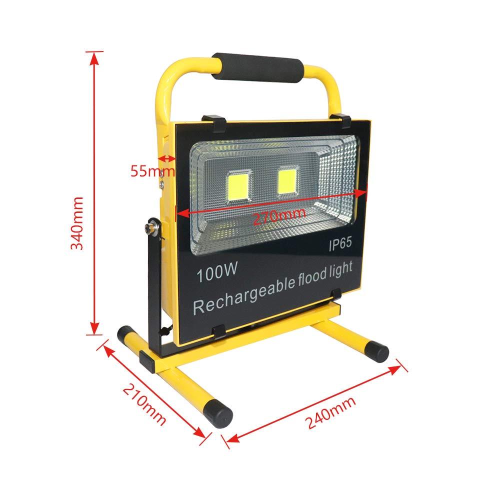 con adattatore AC e caricatore per auto Faretto da cantiere a LED 50//100//150 W