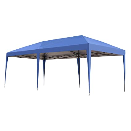 Ez Up Canopy 10x20 >> Outsunny Easy Pop Up Canopy Party Tent 10 X 20 Feet Royal Blue