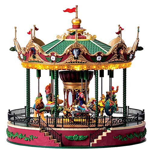- Lemax Village Collection Carnival Village, Elegant Equestrian Carousel 4.5V Adaptor'