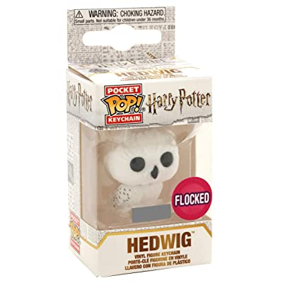 Funko Pop Keychain: Harry Potter - Hedwig (Flocked) Exclusive: Toys & Games