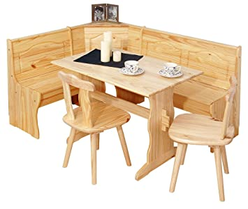 Eckbank landhausstil  Links 30500140 Eckbank Eckbankgruppe Bank Esstisch 2 Stühle Kiefer ...