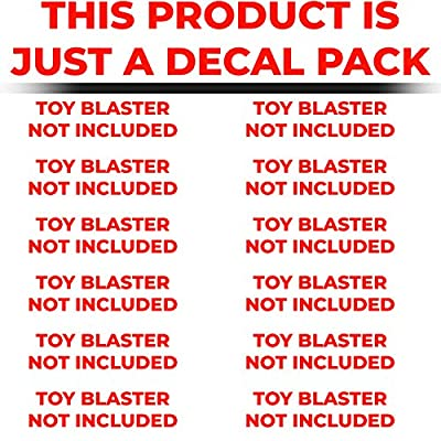 Blastr Wrapz - Gun NOT Included - Kronos Sticker Decals for Nerf Xviii-500 (1-Pack) Custom Toy Blaster Vinyl Skin Upgrade Mod; Kids, Teens, & Adults (Carbon Fiber): Toys & Games