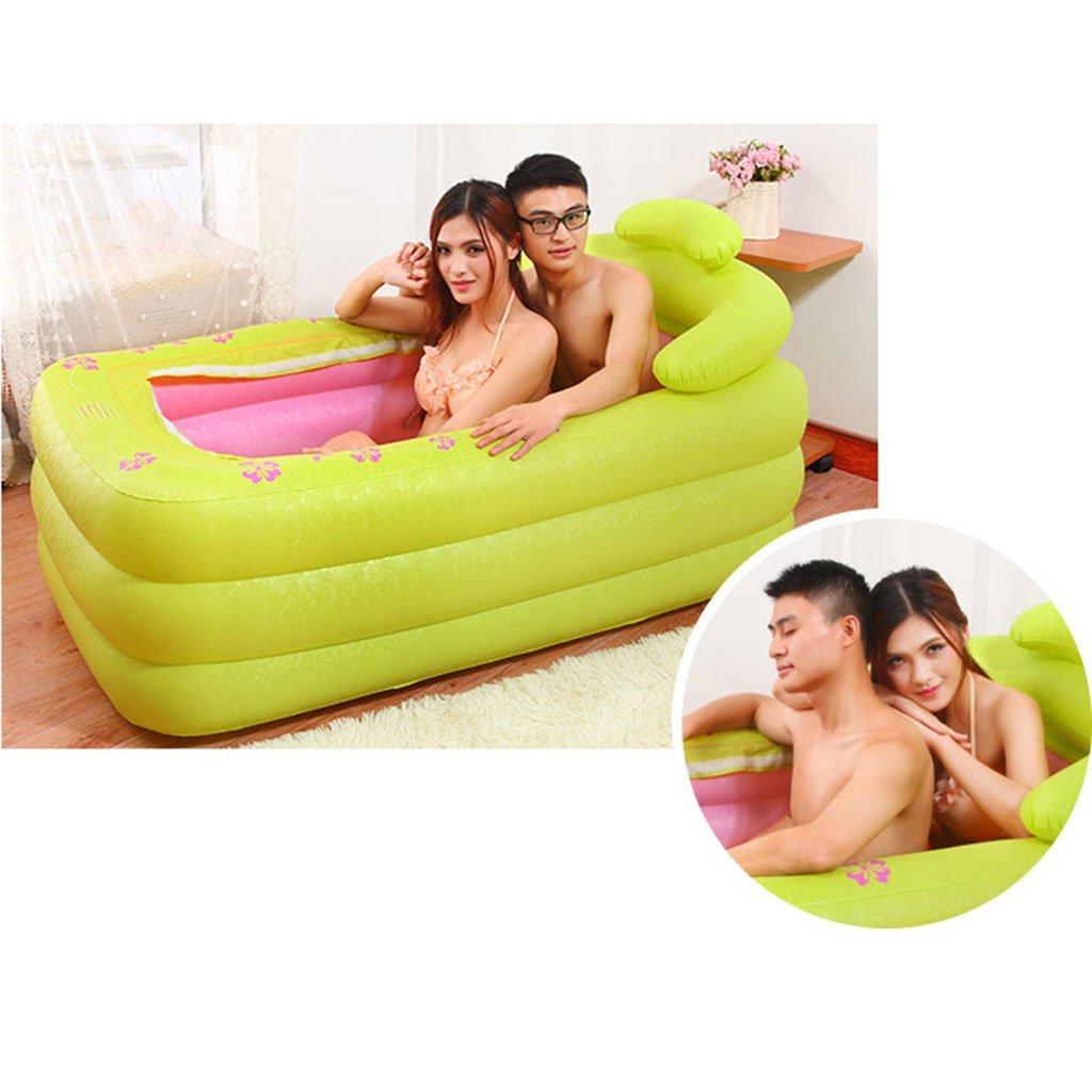 ZDYG Doppelte aufblasbare Badewanne , Haushalt Paar Badewanne Erwachsene Faltbadewanne gro/ß kann liegen liegen Badewanne Kinder Badewanne 160x85x75cm