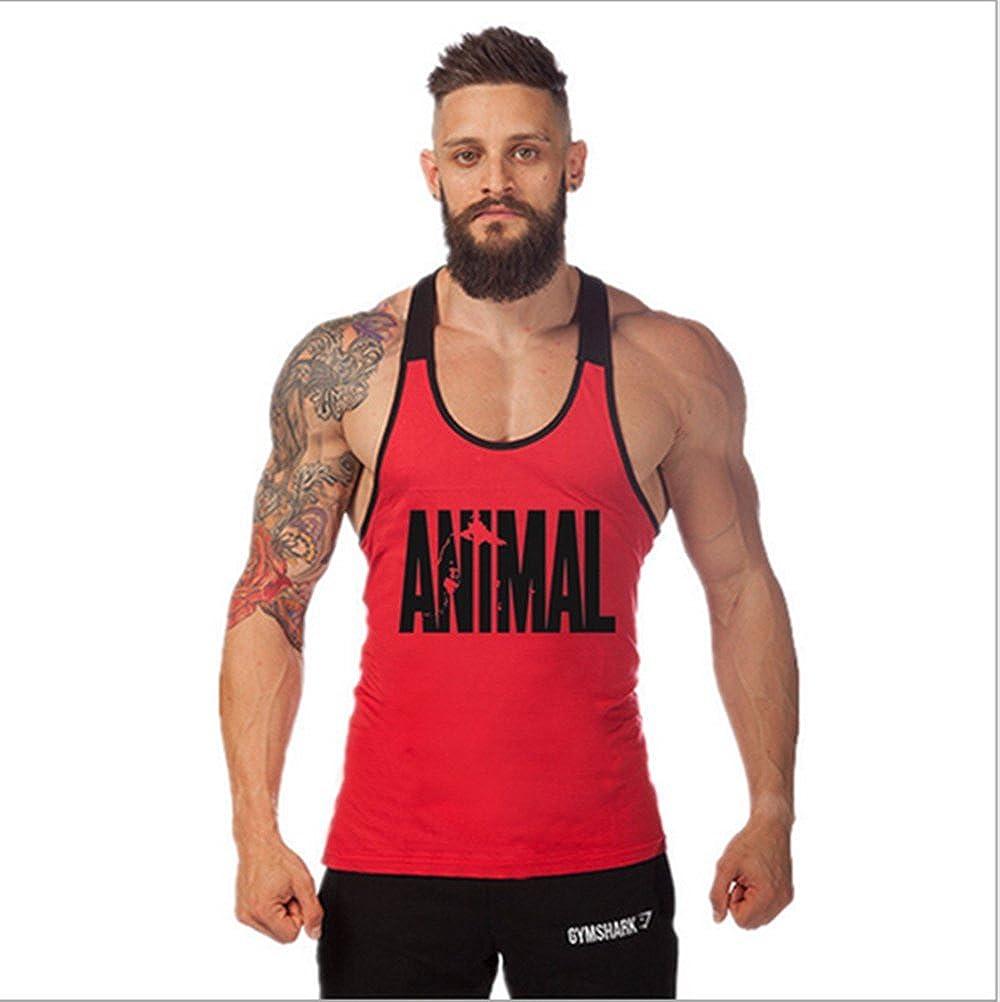 Junsi Animal Tank Tops Canotte Mens Singlets Bodybuilding Vest Fitness Bodybuilding Stringers