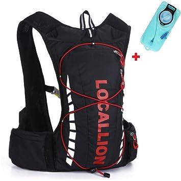 Cyclever - Mochila para ciclistas 10L Mochila 2L Hidratación. Senderismo Trail, Schwarz + Trinkblase: Amazon.es: Deportes y aire libre