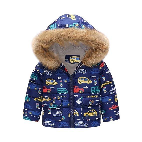 Abrigos Bebé, Dragon868 2019 Invierno cálido niño bebés Dibujos Animados Coche Impreso Chaqueta con Capucha Abrigos: Amazon.es: Ropa y accesorios