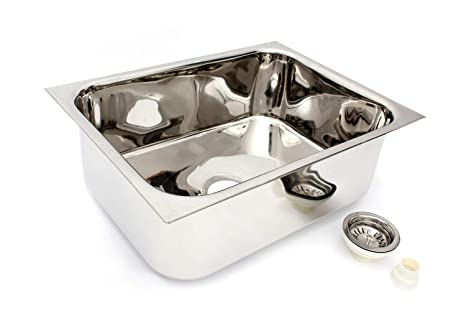 patel 18 gauge admiral promo 202 ss single bowl duel mount kitchen rh amazon in cost of moving kitchen sink plumbing cost of kitchen sink in nigeria