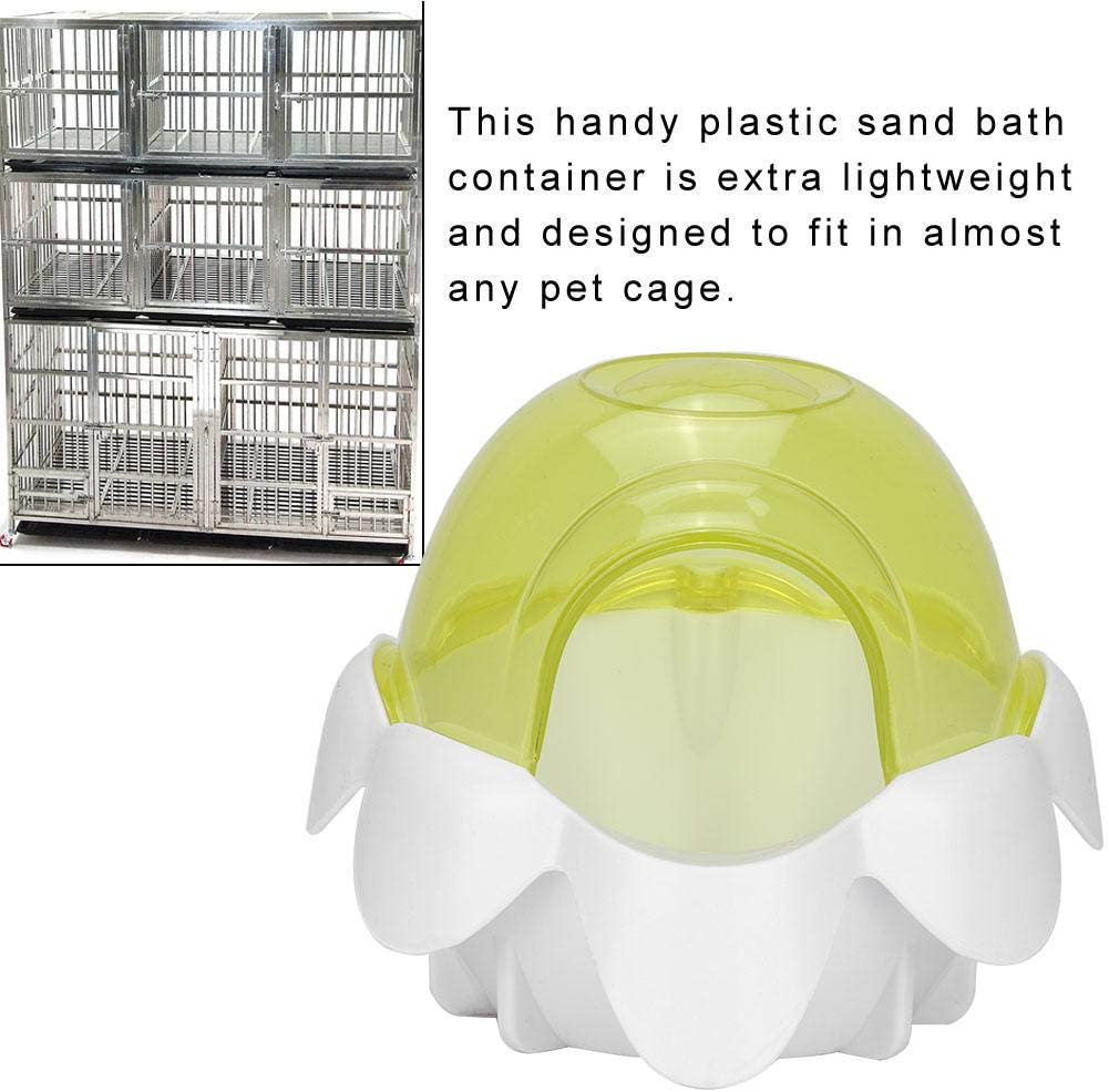per animali domestici vasca da bagno in plastica a forma di loto Vasca da bagno grande in plastica Gerbilli secchi Bagno di criceto Piccolo bagno di sabbia Casa di sabbia Bagno di criceto Giallo