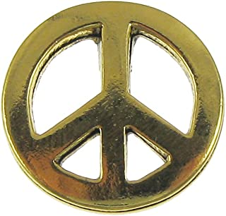 product image for Jim Clift Design Peace Sign Gold Lapel Pin