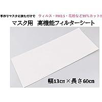 日本製 N95証明書付き ノーズマスクピット ウィルス・PFE 0.1・PM2.5など99%カット!! マスク用高機能フィルターシート 6枚分 (ウィルス対策)