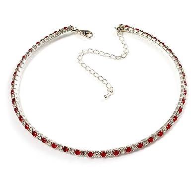 collier swarovski rouge