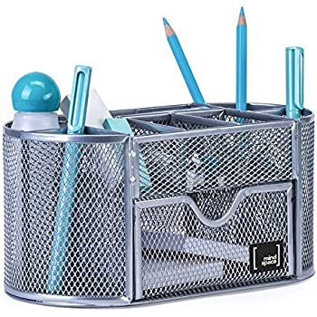 Desk Accessories & Organizer 2019 New Style Leather Pencil Container Holder Office & School Supplies Desktop Stationery Organizer Storage With Drawer For Pen Pencil Mobile Phone Keys Reputation First