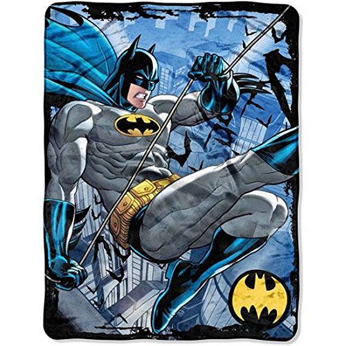 BATMAN Super Hero Super Plush Fleece Blanket Throw 46