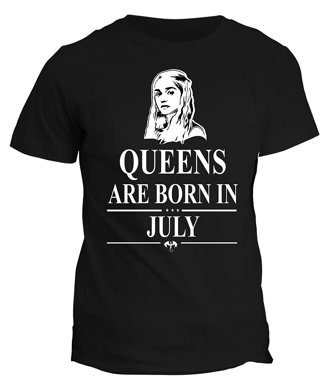 Tshirt compleanno Queens are born in July - le regine sono nate a Luglio - Game of Thrones - Khalees...
