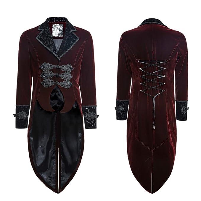 Amazon.com: Punk Steampunk hombre cola de chamarra gótico ...