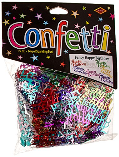 Beistle CN024 Fancy Happy Birthday (Birthday Party Confetti)