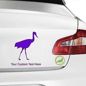 Stickerslug Custom Purple 8 inch Flamingo custom text decal sticker for car truck window bumper boat laptop tablet customizable text stickers