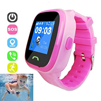 DUWIN Niños Inteligente Relojes, GPS Kids SmartWatch con ...