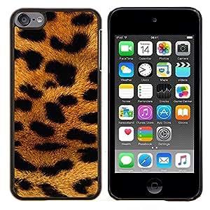 Eason Shop / Premium SLIM PC / Aliminium Casa Carcasa Funda Case Bandera Cover - Patrón de África Animal Oro - For Apple iPod Touch 6 6th Touch6
