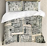 Ambesonne Nature Duvet Cover Set, Bolt Forked