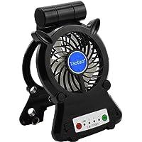 Mini Ventilateur USB de Bureau, Rechargeable LED Fan, Taotuo Ventilateur de Table avec 3 Modes Rotation à 270° pour Poussette Voiture Camping
