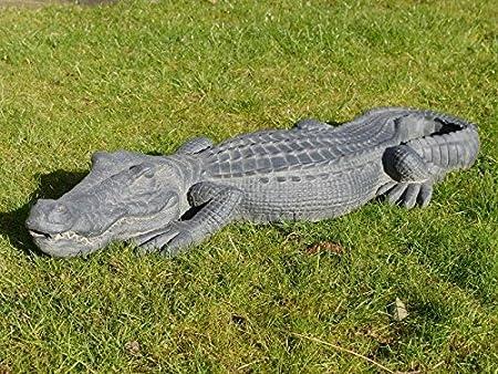 Exterior de piel de cocodrilo resina adornos de jardín Estatua Figura Escultura grande 96 cm: Amazon.es: Hogar