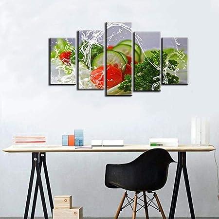 Ruyun Materiel De Decoration De Cuisine Peinture Sur Toile Legume