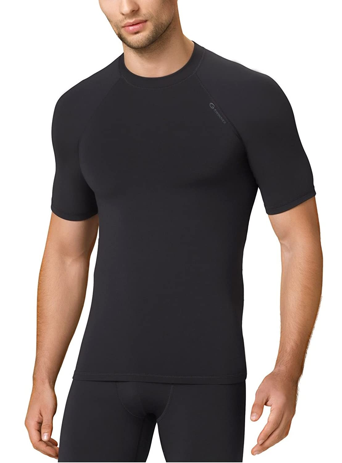 functional underwear men Tshirt ideal as skiing underwear and for daily use -Serie Blackline - made in EU from Gwinner