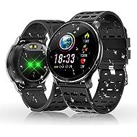 HOLALEI Montre Connectée, Bracelet Intelligent Bluetooth Fitness Tracker Smart Watch Etanche IP68 Podometre Cardiofréquencemètre Montre Intelligente pour Android iOS iPhone