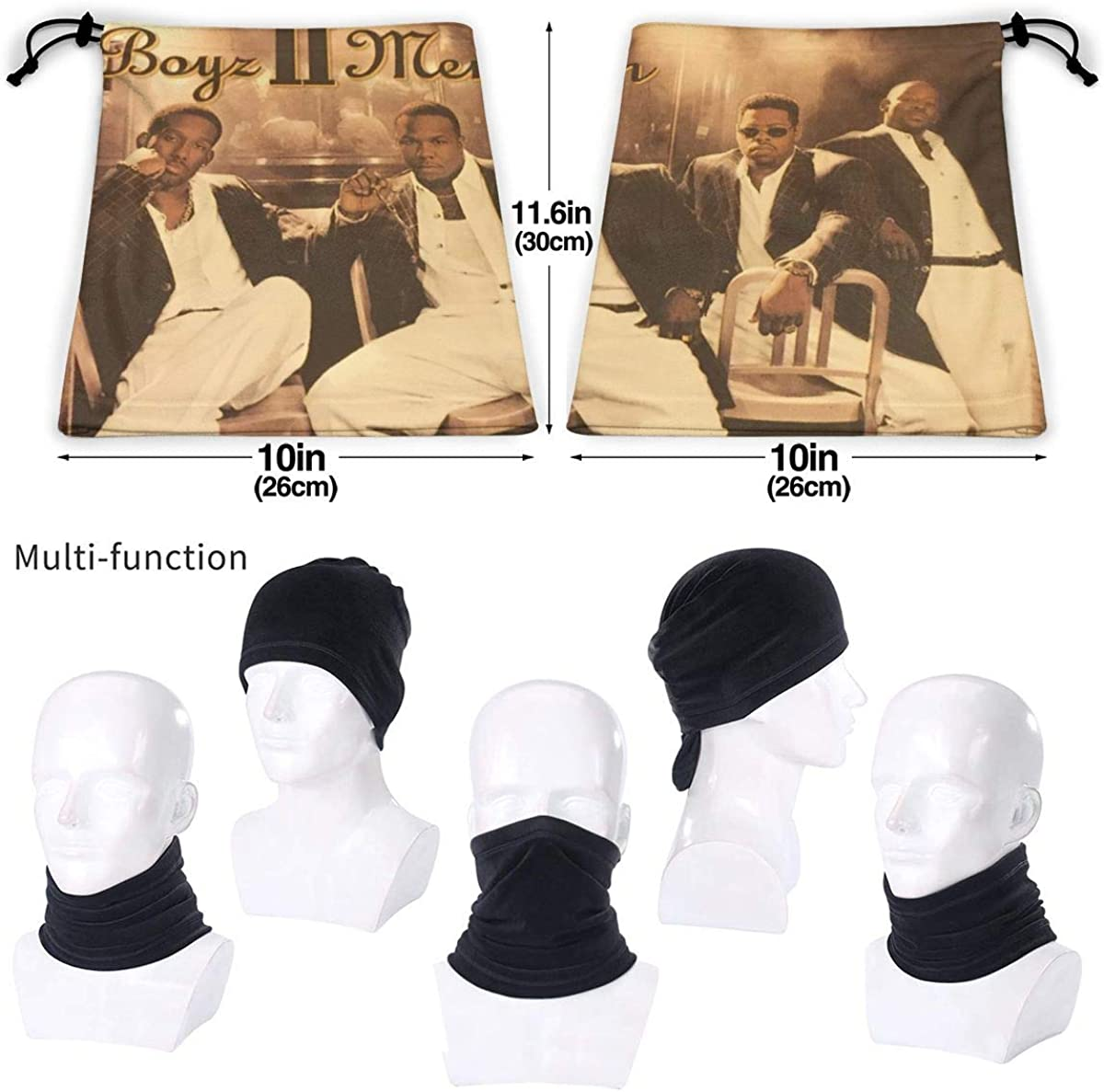 Boyz Ii Men Unisex Comfortable And Breathable Fashion Scarf Face Tube Neck Scarf Neck Warm Scarf