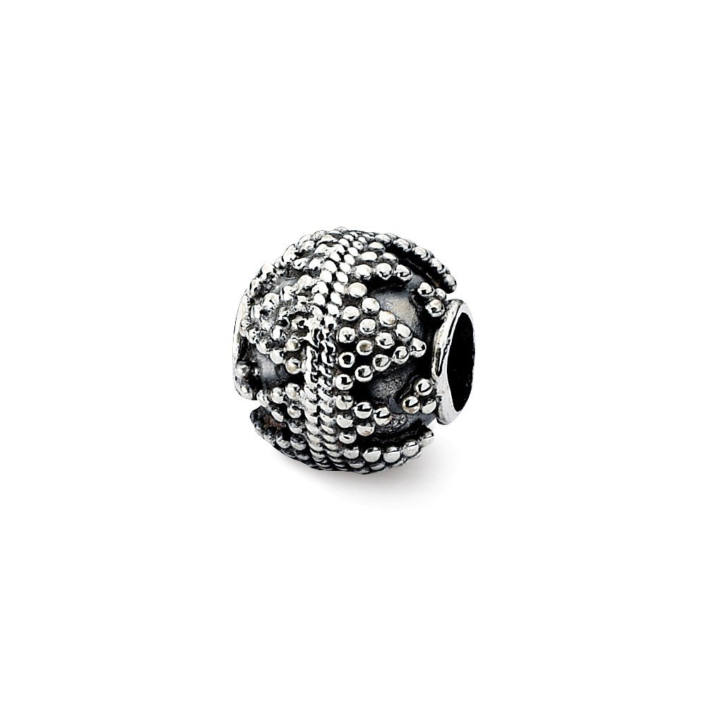 Sterling Silver Artisan Bead Solid 10.00 mm 10.91 mm Themed Beads Jewelry