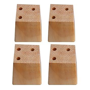 BQLZR - Patas de madera natural de pino trapezoidal para ...
