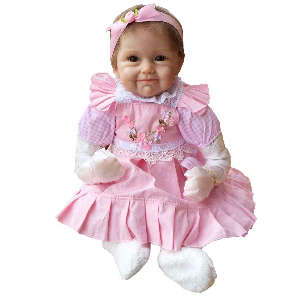 NPK 55CM Reborn baby doll muñeca realista del bebé los niños hechos a mano regalo del bebé renacer de la muñeca de silicona suave Simulación de vinilo de realista juguete lindo de la muñeco