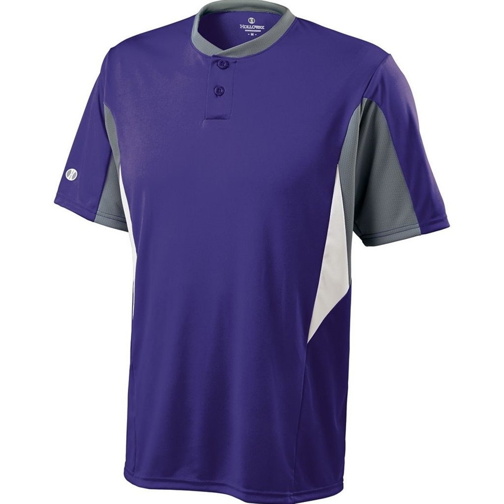 Holloway Dry-Excel Youth Rocket Jersey (X-Large, Purple/Blue Grey/White)