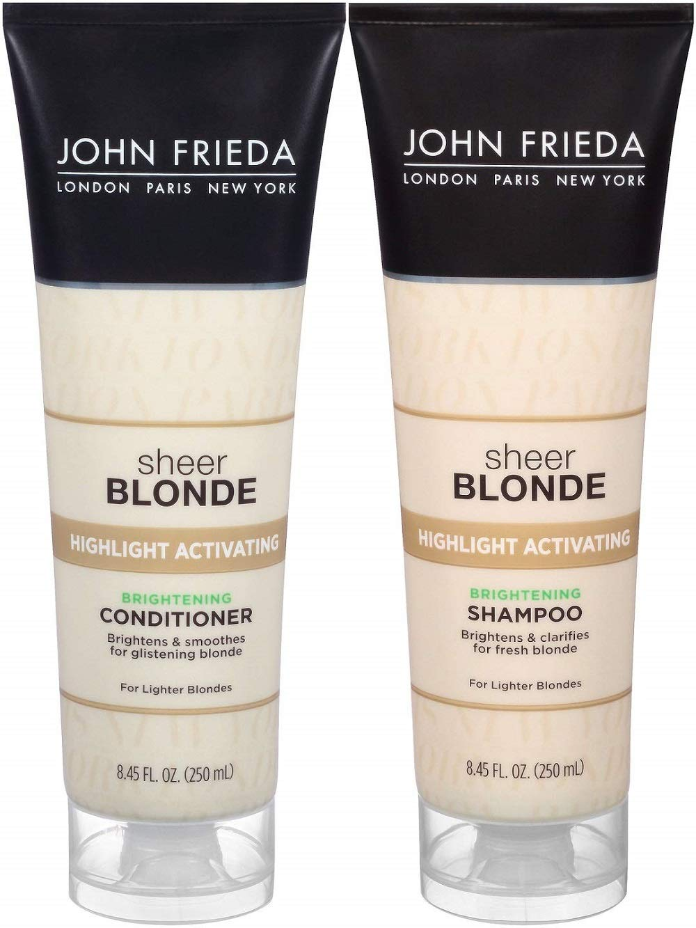 John Frieda Sheer Blonde Highlight Activating Enhancing, DUO set Shampoo + Conditioner (for Lighter Blondes)