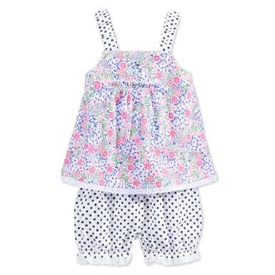 5c8820ac408b Amazon.com  First Impressions Infant Girls 2 PC Flower Shirt   Blue ...