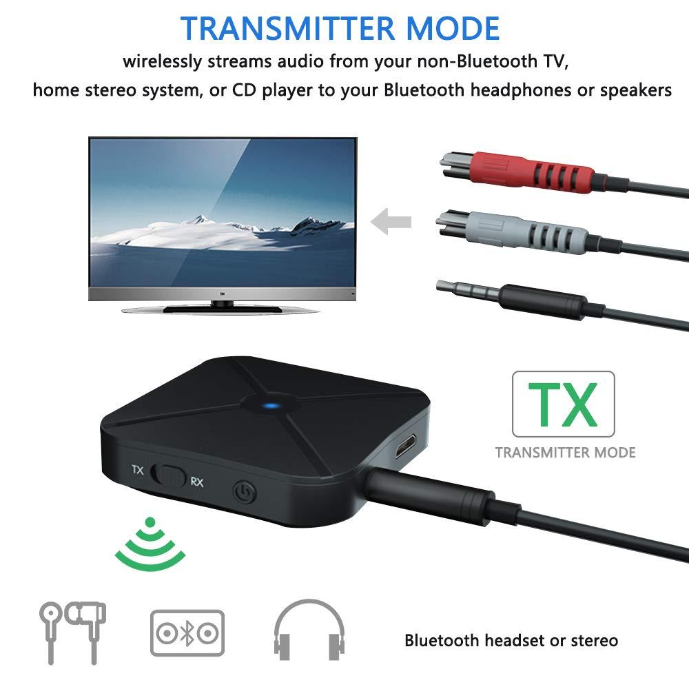 3.5mm Aux /& RCA Kabelloser Hi-Fi Audio Adapter f/ür stereoanlage Heim HiFi Auto Bluetooth-Audio-Adapter mit eingebautem Ger/äuschisolator Bluetooth Empf/änger 4.2